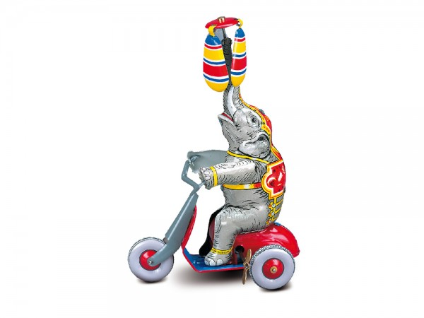 Elephant with two air planes, Tin Toy